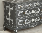 Bone inlay style drawers by Dominique Malacarne with Pearlescent Glaze image 5